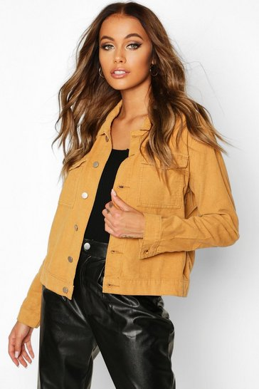Tan Cord Trucker Jacket