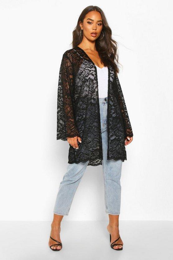 Lace Wide Sleeve Kimono