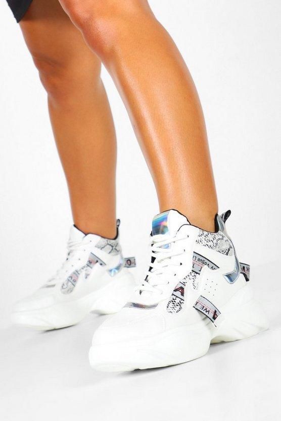 Chunky Mixed Panel Trainers