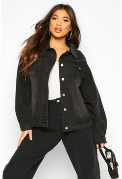 Black Oversized Denim Jacket