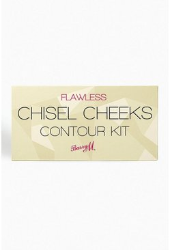 Womens Brown Barry M Chisel Cheek Contour Kit Light/Medium
