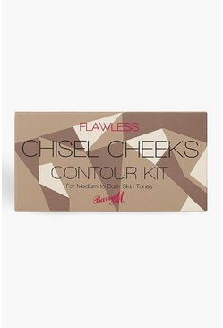 Womens Brown Barry M Chisel Cheeks Contour Kit Medium/Dark