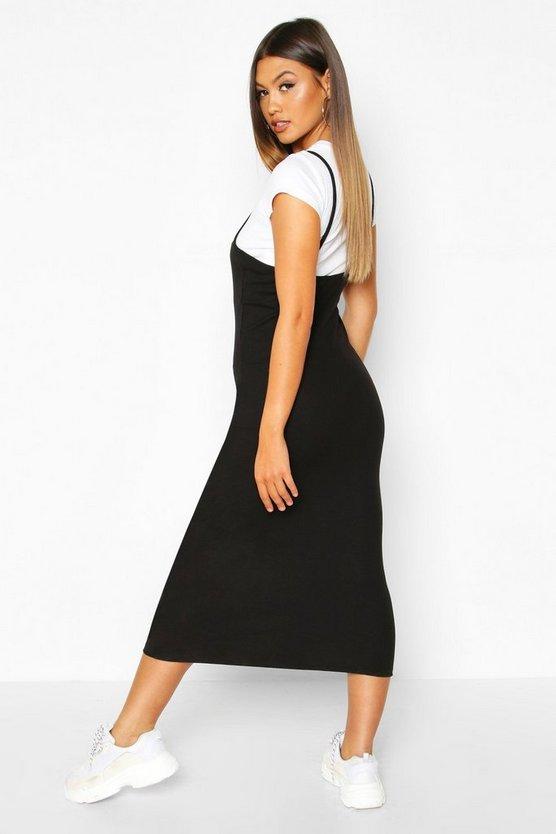 2 In 1 T-Shirt Midi Slip Dress