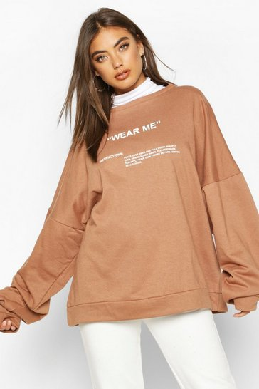 Premium Oversized 'Wear Me' Slogan Sweatshirt