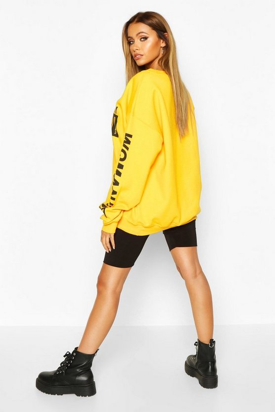 Woman Barcodes Print Sweatshirt