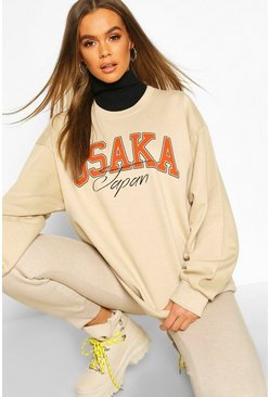 Dam Sand Osaka Japan Graphic Slogan Sweatshirt