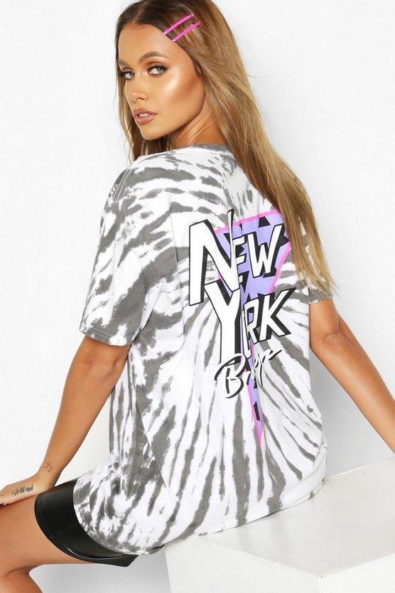 Tie Dye Back Print New York T-Shirt