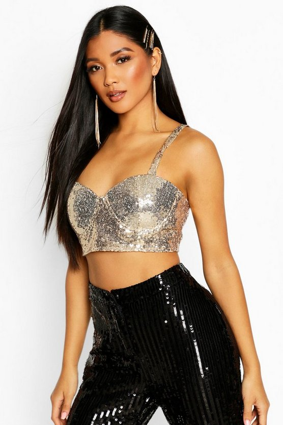Cupped Sequin Bralet