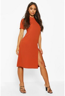 Womens Ginger High Neck Midi Dress