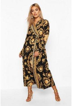 Plus Print Maxi Dress