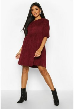 Berry Cord Smock Dress