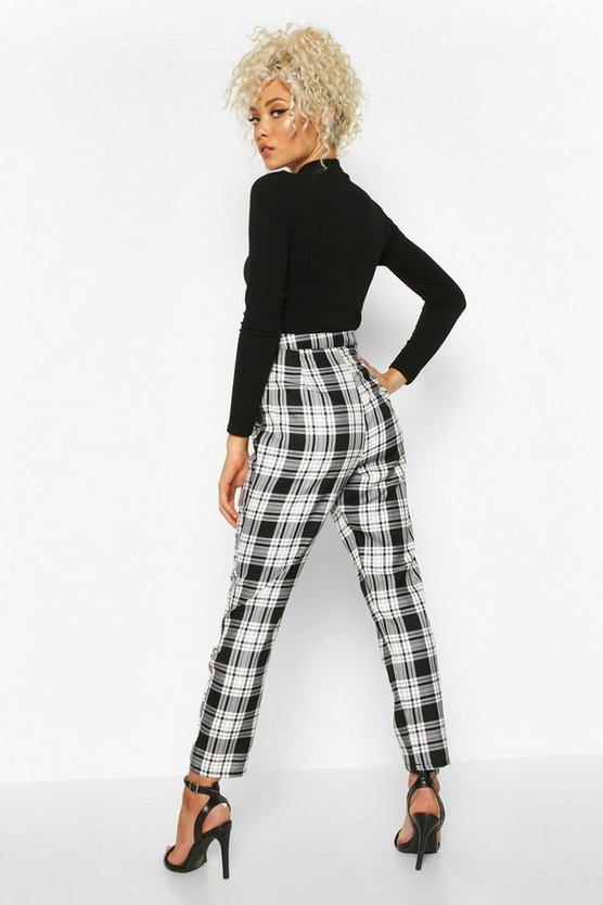 Mono Check Slim Fit Woven Trouser