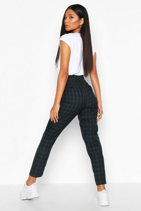 Tartan Check Slim Fit Woven Trousers