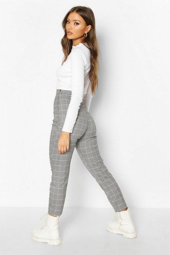 Dogtooth Check Slim Fit Woven Trouser