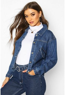 Dam Mid blue Pocket Front Denim Jacket