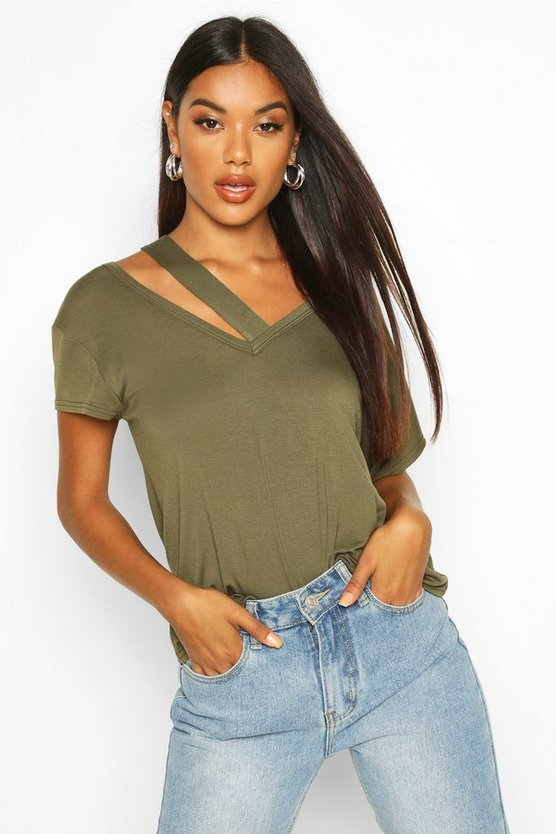 cut-out-detail-t-shirt by boohoo