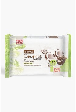 Womens White Nuage Coconut Water 3 In 1 Facial Wipes