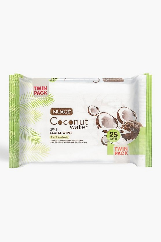 Nuage Coconut Water 3 In 1 Facial Wipes