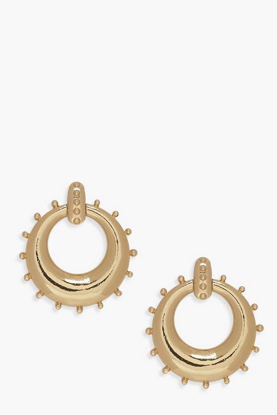 Circle Door Knocker Earrings