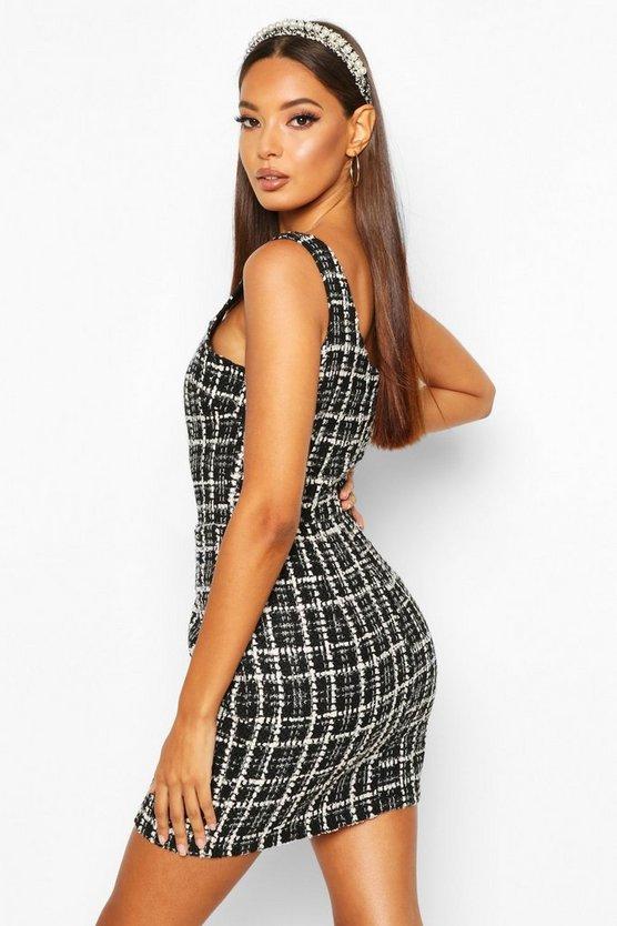 Boucle Pinafore Dress