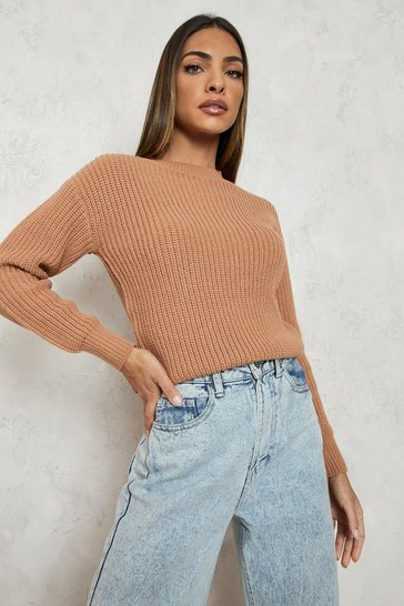 Biscuit Crop Fisherman Jumper