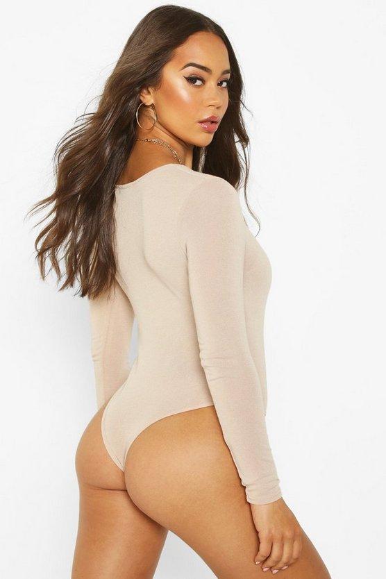 Soft Knit Long Sleeve Popper Bodysuit