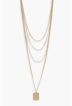 Womens Gold Choker Chain & Layered Necklace