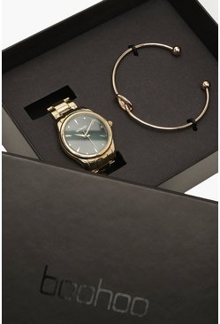 Dam Gold Bracelet & Watch Gifting Set
