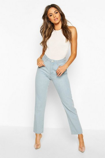 Mid blue High Rise Mom Jean