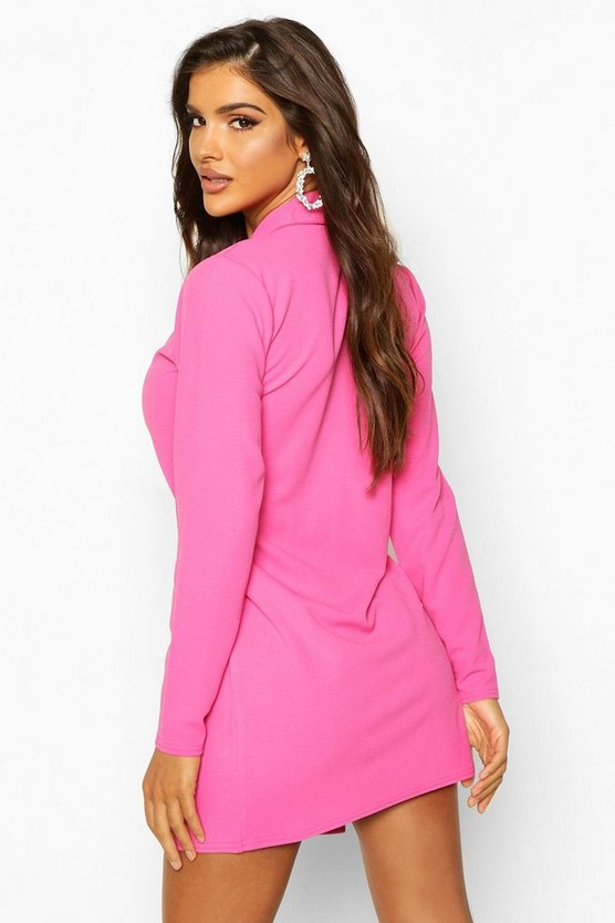 Tailored Wrap Blazer Dress