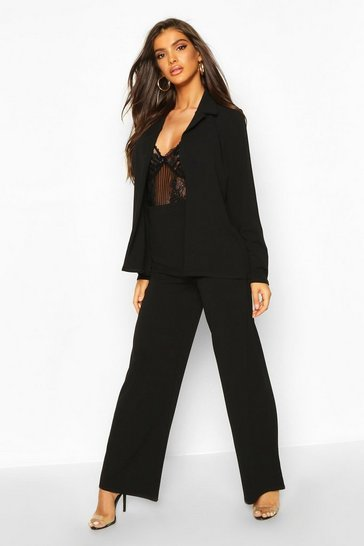 Womens Black Tailored Blazer Suit Co-ord