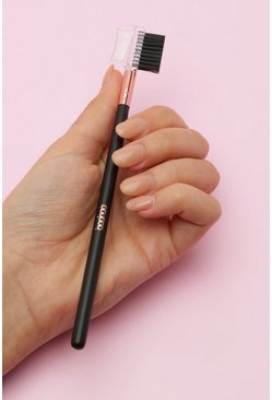 Black Boohoo Eyebrow & Lash Groomer Brush