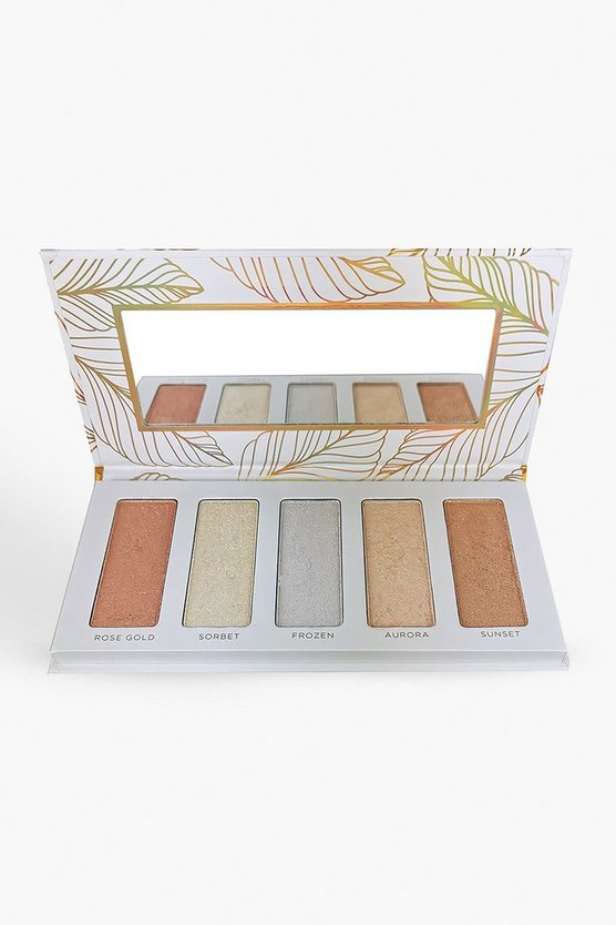 Womens White Body Collection Highlighter Palette