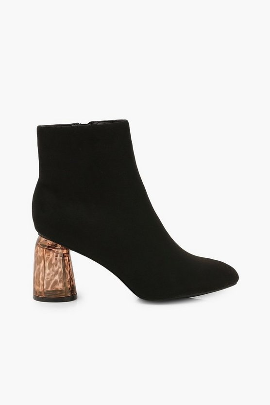 Clear Feature Heel Shoe Boots