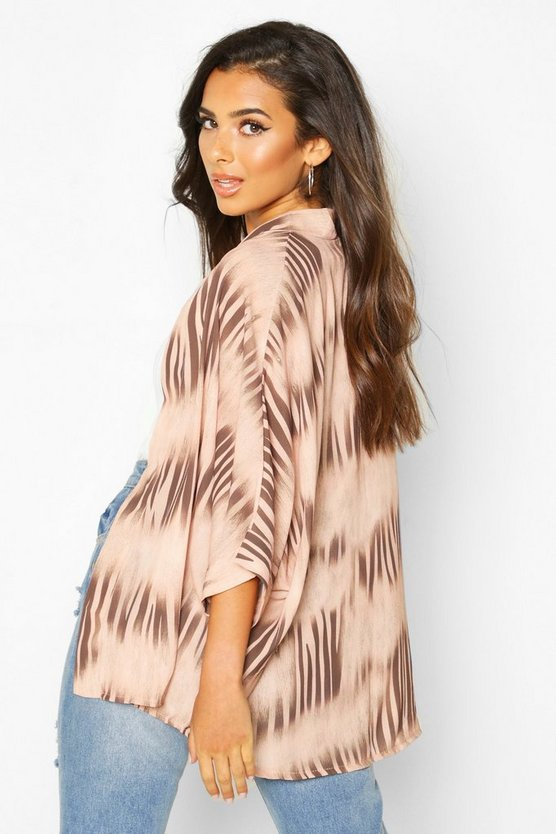Ikat Print Kimono