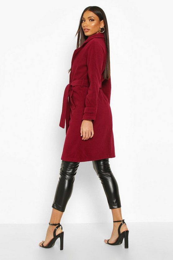 Belted Military Double Breasted Trench Coat