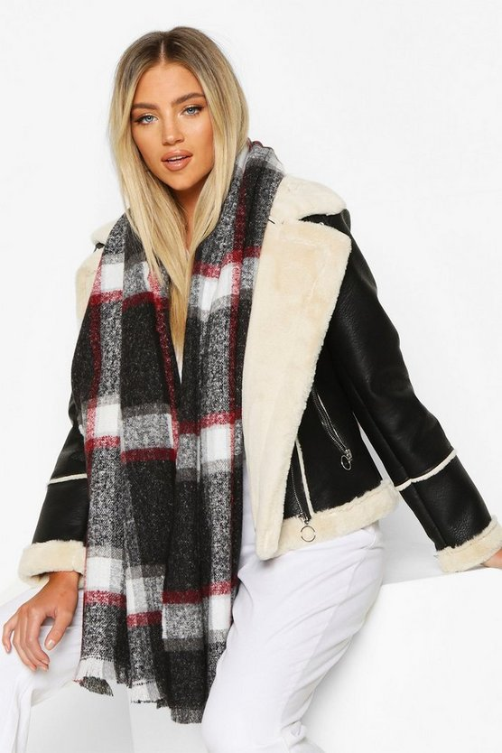 Check Scarf Check Scarf by Boohoo