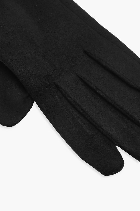 Faux Suedette Thick Gloves