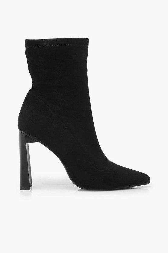 Stretch Interest Heel Sock Boots