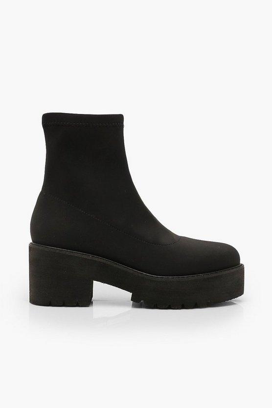 Chunky Platform Sock Boots
