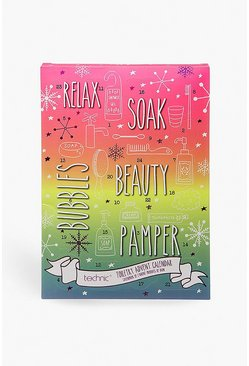 Womens Pink Technic Relax & Pamper Toiletry Advent Calendar