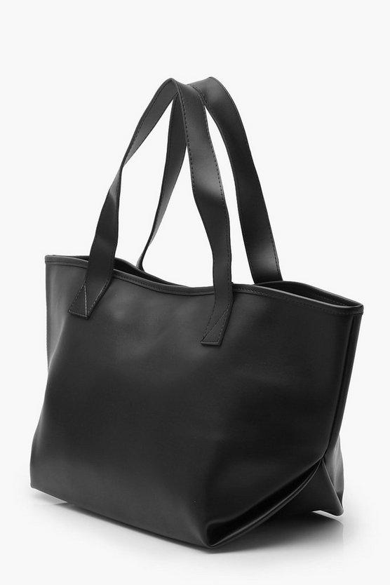 Slouchy PU Day Bag