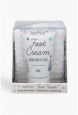 Womens White Technic Feet Treats