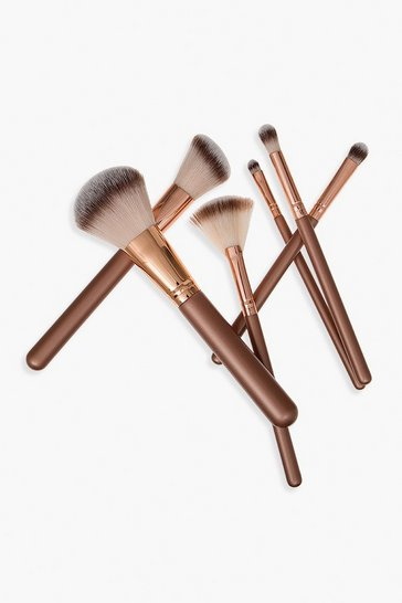 Womens Nude Body Collection Bag and Brush Set