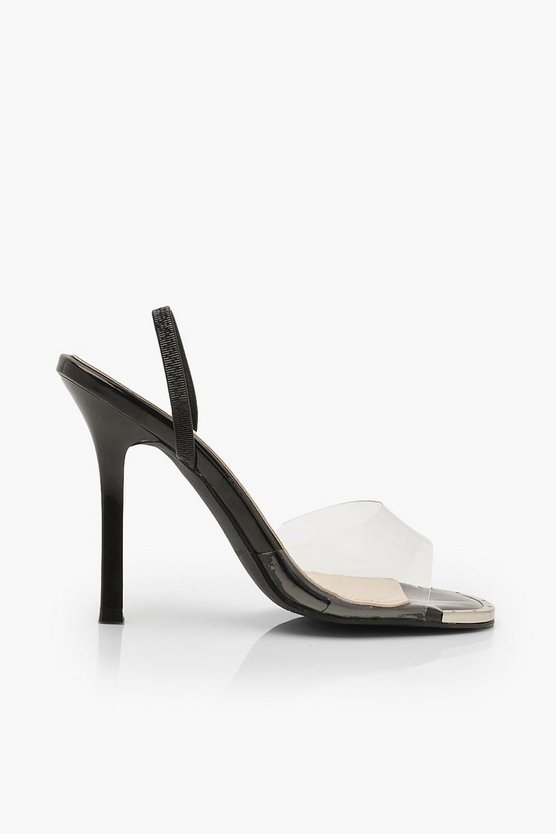 Clear Slingback Sandals