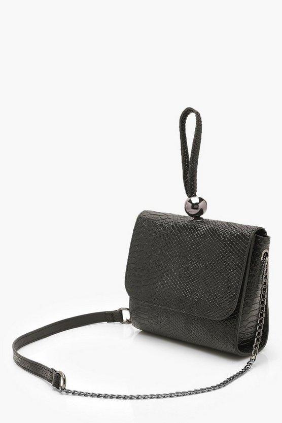 Mini Snake & Bead Detail Bag