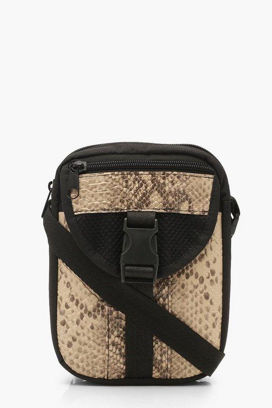 Snake Utility Cross Body Bag