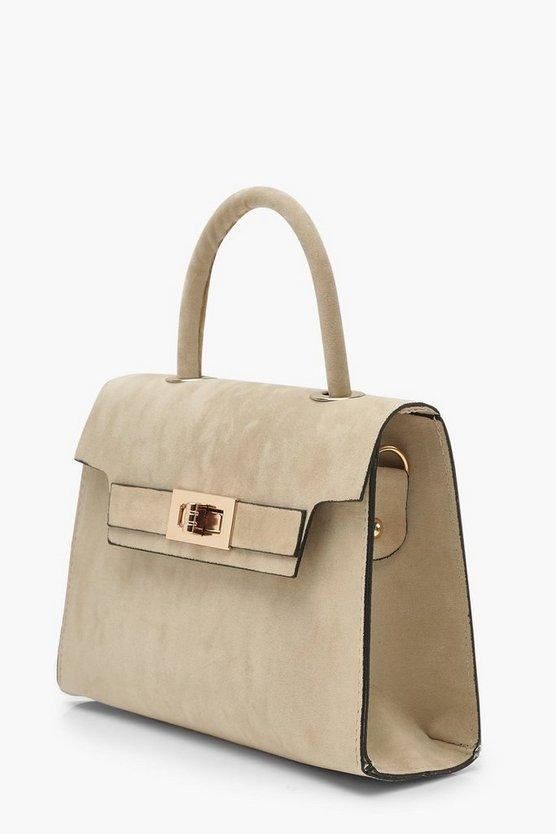 Suedette Small Tote Bag