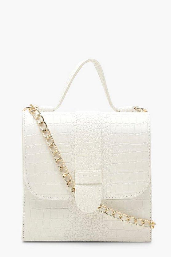 Croc Tab Small Tote Bag