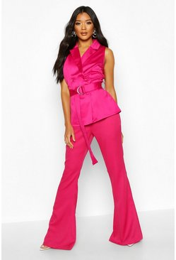 Womens Fushia Wide Leg Trouser